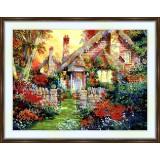 Bead embroidery kit «A-0001 Fairytale House»
