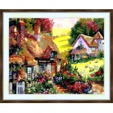 Bead embroidery kit «A-0021 Quaint Cottages»
