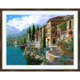 Bead embroidery kit «A-0041 Houses by the Sea»