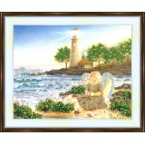 Bead embroidery kit «A-0072 Angel Collecting Shells»