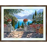 Bead embroidery kit «A-0092 View from the Patio»
