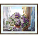 Bead embroidery kit «A-0162 Lilacs on the Window Sill»