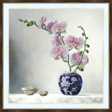 Bead embroidery kit «A-0273 Pink Orchid Branch 2»