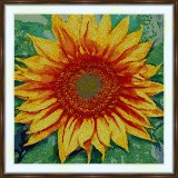 Bead embroidery kit «A-0313 Sunflower»