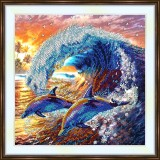 Bead embroidery kit «A-0373 Playing with the Waves»
