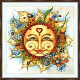 Bead embroidery kit «A-0383 Stylized Sun»