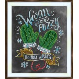 Bead embroidery kit «A-0413 Warm Fuzzy Mittens»