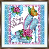 Bead embroidery kit «A-0433 Stepping out with Class and Sass»
