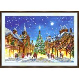 Bead embroidery kit «A-0477 Christmas on the Square»