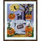 Bead embroidery kit «A-0507 Halloween BOO»