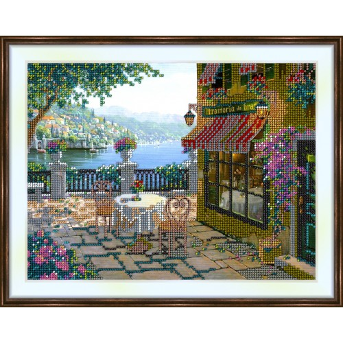 Bead embroidery kit «K-0011 Patio on the Waterfront»