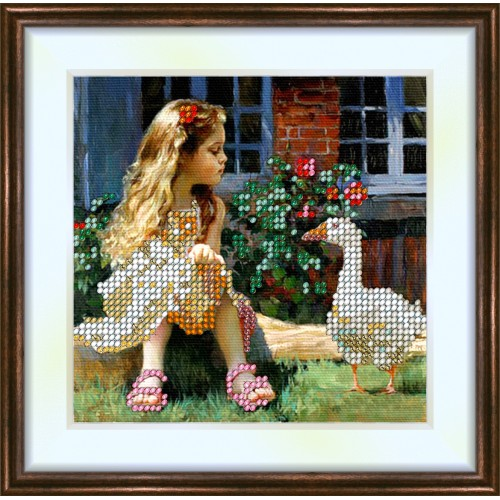 Bead embroidery kit «K-0081 Goose Girl»
