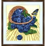 Bead embroidery kit «K-0162 Basket of Blueberries»