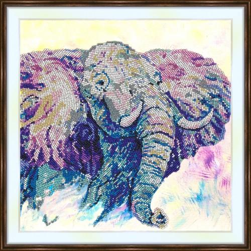 Bead embroidery kit «K-0172 African Bull Elephant»