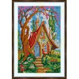 Bead embroidery kit «K-0182 Fairy Cottage»
