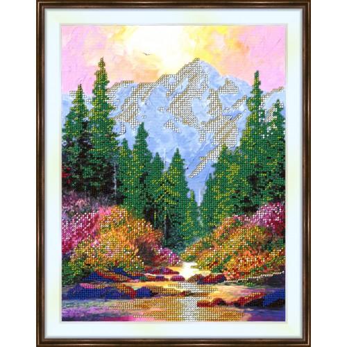 Bead embroidery kit «K-0192 Snowmelt Mountain Stream»