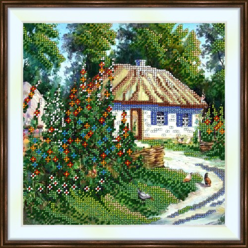 Bead embroidery kit «K-0212 Country Cottage»