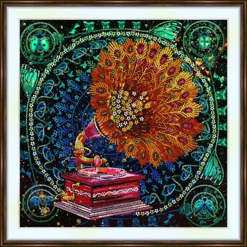 Bead embroidery kit «K-0222 Fantasy Gramophone»
