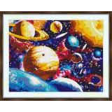 Cross stitch kit «S-0018 Solar System»