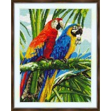 Cross stitch kit «S-0029 Red Parrot,Blue Parrot»