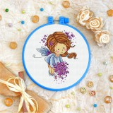 Cross stitch kit «T-0047 Fairy with Lilacs»