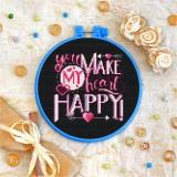 Cross stitch kit «T-0077 You Make My Heart Happy»