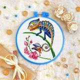Cross stitch kit «T-0182 Mandala Chameleon»