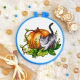 Cross stitch kit «T-0226 Black Cat and Pumpkin»