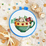 Cross stitch kit «T-0238 Bunny in a Cup»