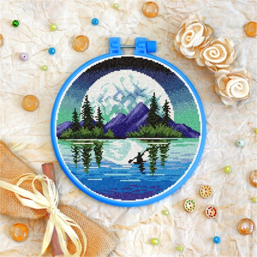 Cross stitch kit «T-0269 Moon and Mountains»