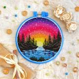 Cross stitch kit «T-0332 Rainbow Sunset»