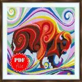 Cross stitch pattern «pdf-S-0023 Buffalo»