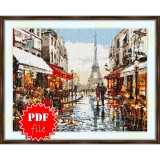 Cross stitch pattern «pdf-S-0033 Paris View of the Tower»