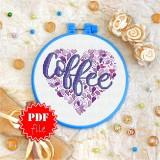 Cross stitch pattern «pdf-T-0002 Coffee»