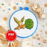 Cross stitch pattern «pdf-T-0022 Toy Bunny 'n Carrot»