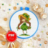 Cross stitch pattern «pdf-T-0052 My Beautiful Braids»
