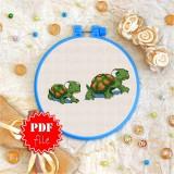 Cross stitch pattern «pdf-T-0112 Turtles»