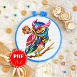 Cross stitch pattern «pdf-T-0162 Mandala Owl»