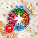 Cross stitch pattern «pdf-T-0187 Four Seasons»