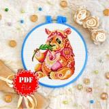 Cross stitch pattern «pdf-T-0195 Mandala Panda»