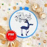 Cross stitch pattern «pdf-T-0240 Winter Deer»