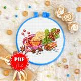 Cross stitch pattern «pdf-T-0348 Tea with Lemon»