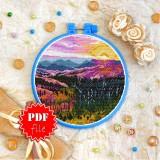 Cross stitch pattern «pdf-T-0401 Purple Sunset»