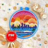 Cross stitch pattern «pdf-T-0421 Miami Evening»