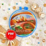 Cross stitch pattern «pdf-T-0431 Arches Park»