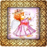 Magnet bead embroidery kit «M-0040 Angel and Her Kitten»