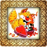 Magnet bead embroidery kit «M-0050 Curious Ginger Kitty»