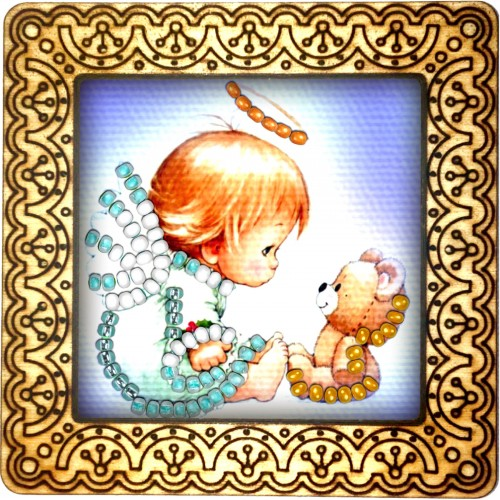 Magnet bead embroidery kit «M-0070 Hello Kitty»