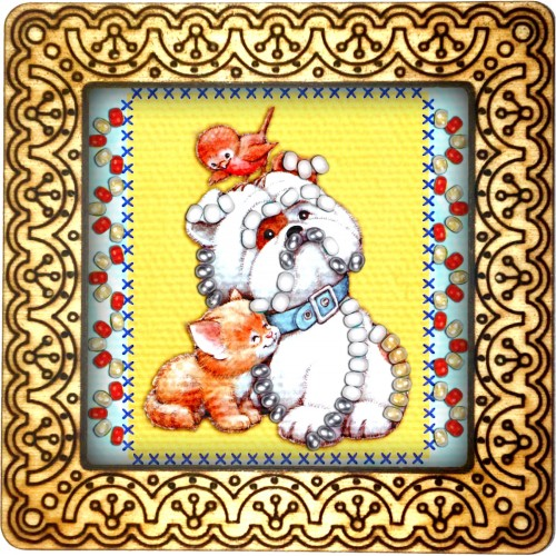 Magnet bead embroidery kit «M-0090 My Big Friend»