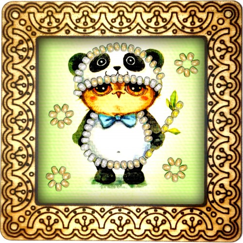Magnet bead embroidery kit «M-0110 The Panda Costume»
